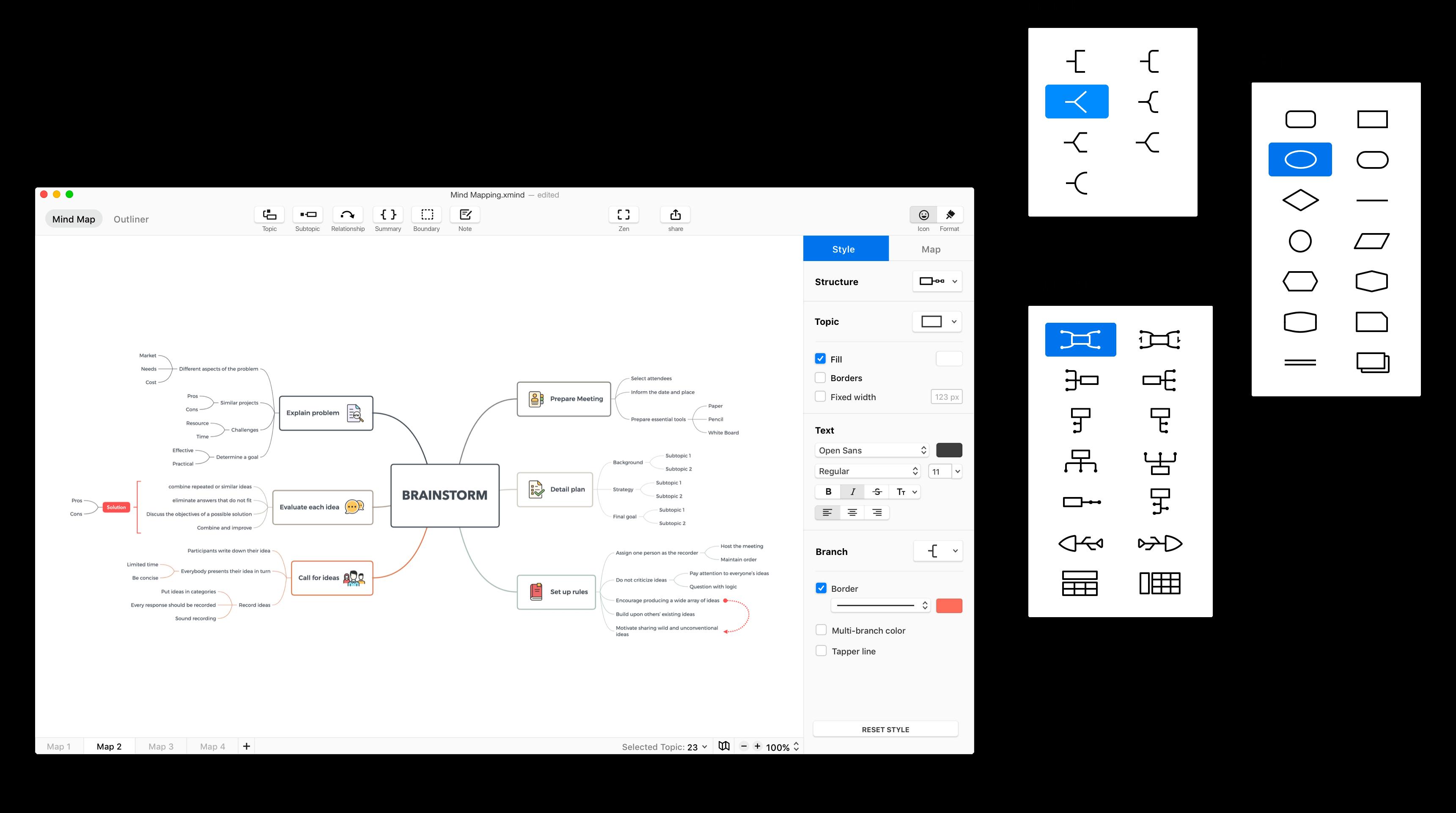 思维导图工具,XMind免费版下载,互联网人必备